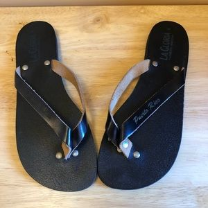 Shoes - Black Flip Flops